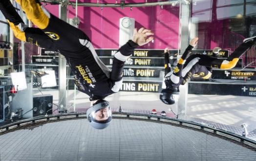 Kuvassa: D2W (dynamic two-way) -lentämistä. Lentäjinä Joel O'Donoghue ja Miroslava Shilova. Kuva: Sirius Sport